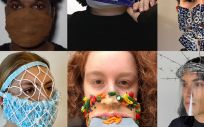 Mascarillas diseñadas por los estudiantes (Foto. MIT ACT)