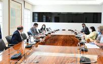 Reunión del Comité de Seguimiento del coronavirus. (Foto. Pool Moncloa. Borja Puig de la Bellacasa)