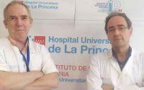 El físico, Guillermo Ortega y el cardiólogo Jesús Jiménez Borreguero. (Foto: Hospital universitario de La Princesa)