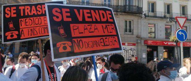 Reivindicaciones de los manifestantes de FSE (Foto. AMYTS)