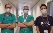 Roberto Martín Asenjo, Héctor Bueno y Guillermo Moreno (Foto: Hospital 12 de Octubre de Madrid)
