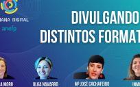 Sesión Divulgando en distintos formatos organizada dentro de la II Semana Digital de anefp (Foto. ConSalud)