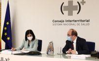Carolina Darias y Miguel Iceta en el Consejo Interterritorial. (Foto. Pool Moncloa Fernando Calvo)