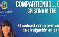 La periodista y podcaster Cristina Mitre (Foto. ConSalud)