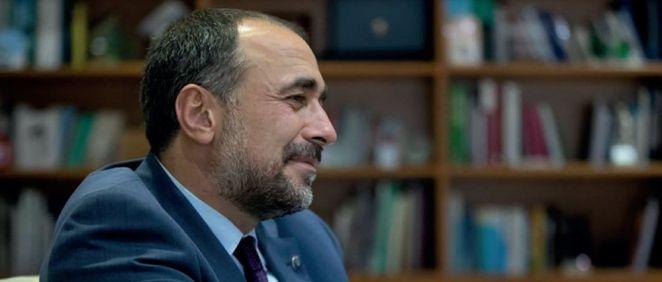Julio García Comesaña, fotografiado para la entrevista (Foto. Xunta de Galicia)