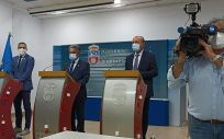 El presidente de Cantabria, Miguel Ángel Revilla, en rueda de prensa. (Foto: Europa Press)