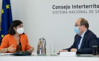 Carolina Darias y Miquel Iceta, antes del Consejo Interterritorial (Foto: Pool Moncloa / Borja Puig de la Bellacasa)