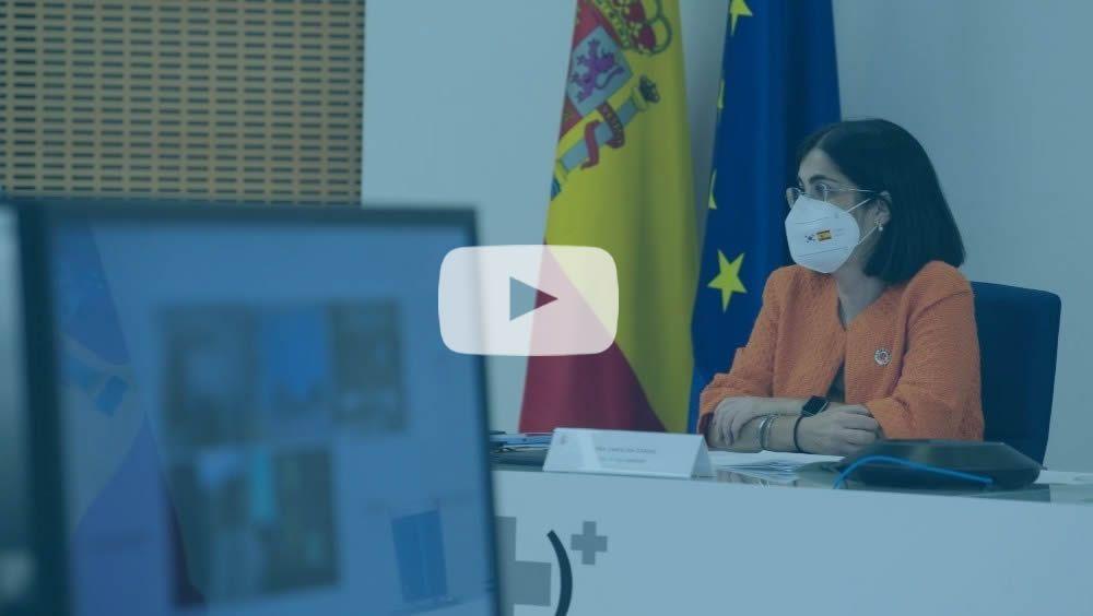 Carolina Darias, ministra de Sanidad, durante el Consejo Interterritorial (Foto: Pool Moncloa / Borja Puig de la Bellacasa)