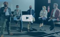 El director de Comunicación del Consejo General de Enfermería, Iñigo Lapetra, interviene en la presentación del cortometraje (Foto: CGE)