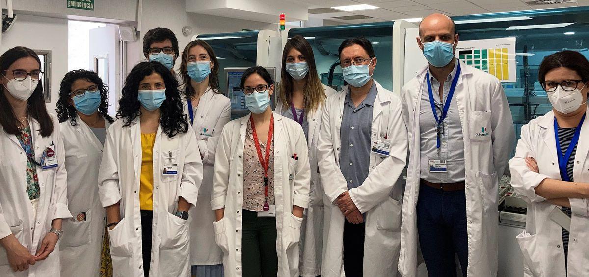 Personal de la Unidad de Monitorización de Fármacos Biológicos del Servicio de Inmunología de la Fundación Jiménez Díaz (Foto. Fundación Jiménez Díaz)