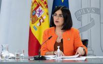 La ministra de Sanidad, Carolina Darias, tras el Consejo Interterritorial (Foto: Pool Moncloa)