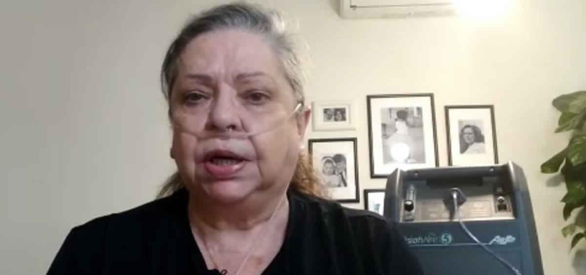 María Martín, paciente con EPOC. (Foto Apepoc).