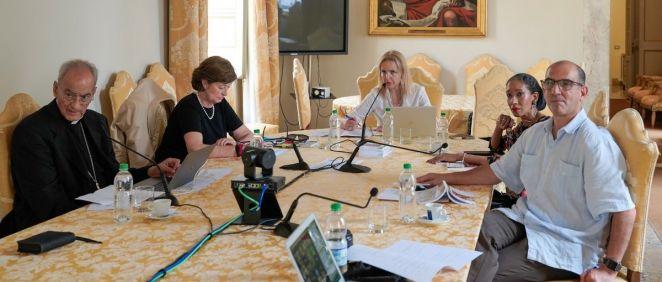 Participantes del taller virtual sobre el acceso a los trasplantes (Foto: ONT)