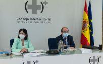 Carolina Darias y Miguel Iceta en el Consejo Interterritorial (Foto. Pool Moncloa Borja Puig de la Bellacasa)