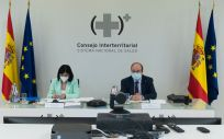 Carolina Darias y Miguel Iceta durante el Consejo Interterritorial (Foto. Pool Moncloa Borja Puig de la Bellacasa)