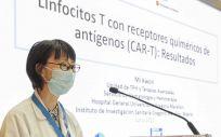 La doctora Mi kwon en la jornada sobre las Terapias CAR T para el tratamiento del cáncer, celebrado en el Hospital Gregorio Marañón (Foto. H. Gregorio Marañón)