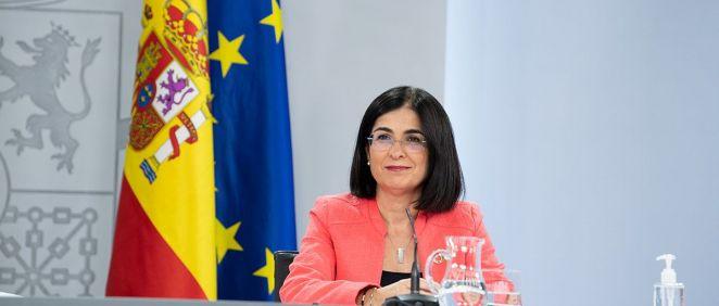 La ministra de Sanidad, Carolina Darias. (Foto. Pool Moncloa. Borja Puig de la Bellacasa)
