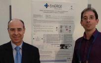 Investigadores del CIBER-BBN y la UPM, Enrique Gómez y Francisco J. Gárate, crean una app para el seguimiento de pacientes con VIH (Foto: Unidad de Cultura Científica UCC+i CIBER)