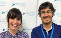 """Los doctores Beatriz Álvarez y Alfonso Cabello, coordinadores de """"E Res Salud VIH"""" (Foto. Fundación Jiménez Díaz)"""