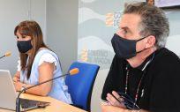 El director general de Salud Pública de Aragón, Francisco Javier Falo, y la consejera de Sanidad, Sira Repollés (Foto. Gobierno de Aragón)