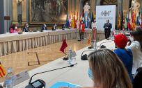 Reunión en el Senado del Pleno del Consejo Interterritorial del Sistema Nacional de Salud (CISNS), la primera desde el inicio de la pandemia de COVID 19 (Foto. Ministerio de Política Territorial)