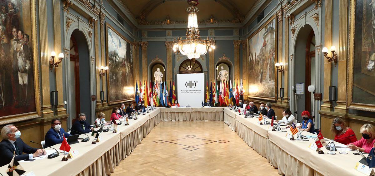 Reunión del Consejo Interterritorial del SNS (Foto. Pool Moncloa Fernando Calvo y Borja Puig de la Bellacasa)