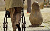 Persona con andador. (Foto. Pixabay)