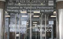 Entrada de los Juzgados de Plaza de Castilla (Foto. Marta Fernández Europa Press)