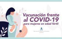 Cartel promocional para fomentar la vacunación entre embarazadas (Foto. CGE)