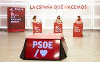 Ainoa Quiñones, Carolina Darias y Hana Jalloul, representantes del PSOE (Foto: PSOE)