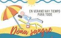 Cartel promocional de la campaña de verano para la donación de sangre (Foto: Centro de Transfusión)