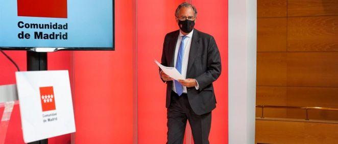 El consejero de Educación, Universidades y Ciencia y portavoz de la C. Madrid, Enrique Ossorio. (Foto A. Pérez Meca, Europa Press)