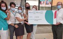 Entrega de la donación del Hospital Quirónsalud Marbella al Banco de alimentos de Málaga. (Foto Grupo Quirónsalud)