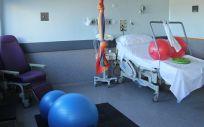 El Hospital Sureste remodela sus salas de parto e incorpora lianas y pelotas para facilitar la movilidad (Foto. Hospital Universitario del Sureste)