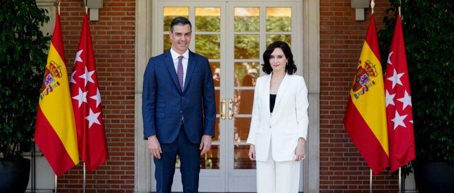 Pedro Sánchez e Isabel Díaz Ayuso, en el Palacio de La Moncloa (Foto: CAM)