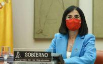 La ministra de Sanidad, Carolina Darias, durante su comparecencia en el Congreso de los Diputados (Foto: Congreso)
