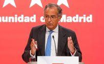 El consejero de Educación, Universidades, Ciencia y portavoz de la Comunidad de Madrid, Enrique Ossorio (Foto. EP, A. Pérez Meca)