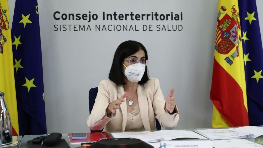Carolina Darias, ministra de Sanidad, durante el Consejo Interterritorial (Foto: Pool Moncloa / Fernando Calvo)