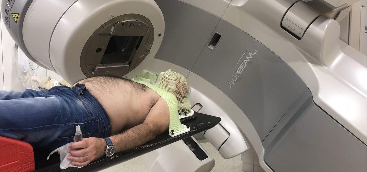 Tratamiento con radioterapia de un cáncer de cabeza y cuello (Foto: SEOR)