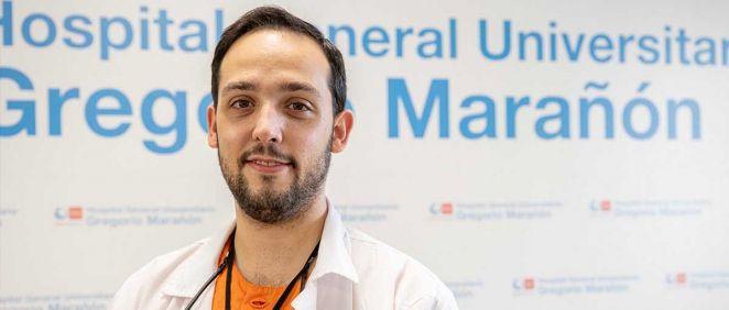 Raúl Antúnez Conde, autor del estudio para la implementación de la impresión 3D en la cirugía de reconstrucción del volumen orbitario (Foto. Hospital Gregorio Marañón)