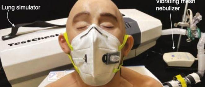 La mascarilla tiene pequeños sensores desechables que se pueden colocar en otras máscaras faciales. (Foto. Nature)