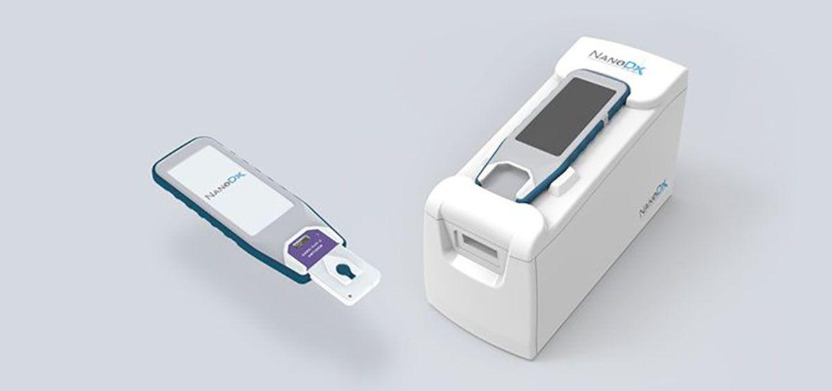 La prueba COVID 19 de dos minutos utiliza tecnología de nanosensores. (Foto. NanoDx)