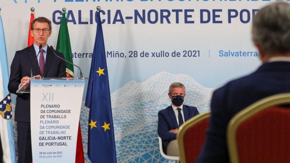 El presidente de la Xunta de Galicia, Alberto Núñez Feijóo, interviene en un acto (Foto: Xunta)