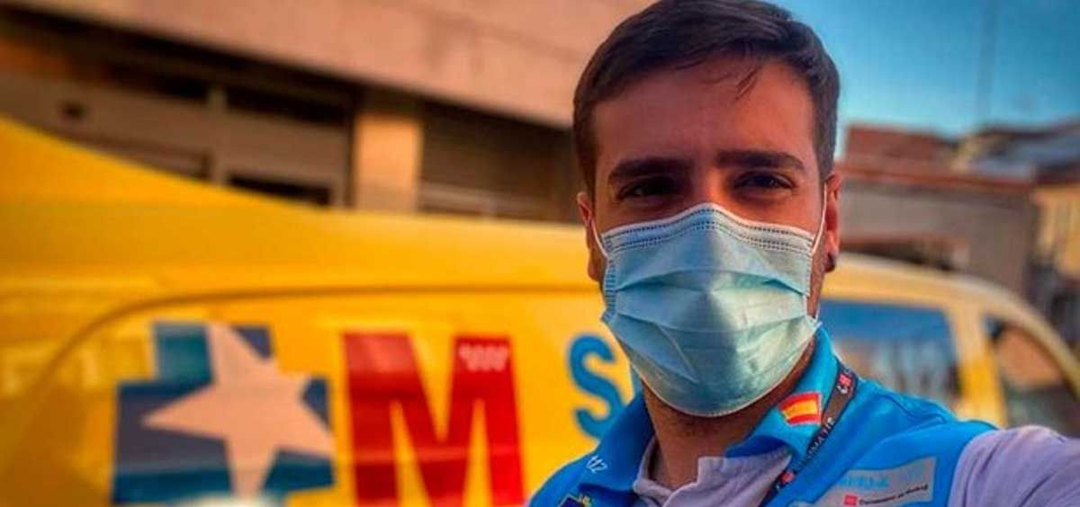 Jorge Prieto, el enfermero de Summa112 que se hizo viral por su discurso en el Wanda (Foto. Instagram @emergencias112)