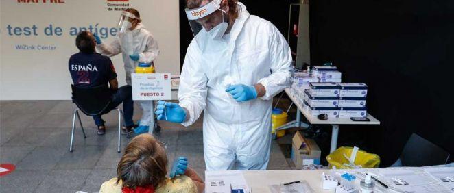 El Wizink Center comienza a hacer test de antígenos gratuitos