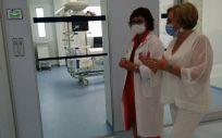 La Consejera de Sanidad de la Comunidad Valenciana, Ana Barceló, visita las obras de reforma del Hospital de Elda, Alicante. (Foto. Generalitat Valenciana)