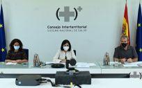 La ministra de Sanidad (centro), Carolina Darias, durante el Consejo Interterritorial del SNS (Foto: Pool Moncloa / Borja Puig de la Bellacasa)