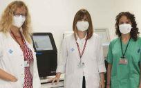 Tres de las profesionales autoras del estudio, de izquierda a derecha las Dras. María Molina, Lourdes Planas y Vanesa Vicens (Foto. Hospital de Bellvitge)