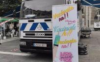 Vacumóvil en Oviedo, unidad móvil para vacunar contra la Covid-19 (Foto: EP)