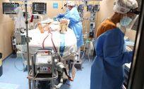 Paciente tratado con soporte ECMO en el Hospital Vall d´Hebron (Foto: Vall d´Hebron)